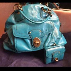 Coach Legacy Francine Teal, L E w/ matching wallet